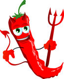 Devil red hot chili pepper Stock Photography