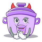 Devil rice cooker character cartoon Stock Image