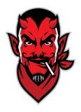 Devil rider head mascot. Vector of devil rider head mascot Royalty Free Stock Photo