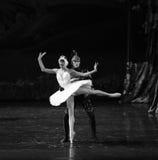 The devil Rothbart poisoned Ojta Swan-The last scene of Swan Lake-ballet Swan Lake Royalty Free Stock Photos