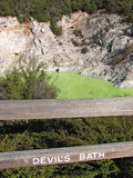 Devil& x27; s浴在Wai-O-Tapu热量公园,新西兰 免版税库存图片