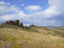 Devil`s Backbone in Loveland, Colorado. Is a popular hiking trail in the foothills of the Rocky Mountains stock images