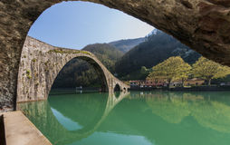 Devil's bridge, Borgo a mozzano, Italy Royalty Free Stock Photo