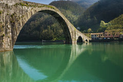 Devil's bridge, Borgo a mozzano, Italy Royalty Free Stock Photography