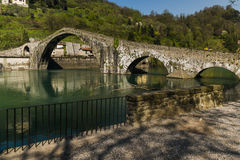 Devil's bridge, Borgo a mozzano, Italy Stock Photo