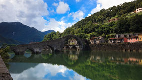 Devil's Bridge, Borgo-a-Mozzazno, Italy Royalty Free Stock Photo
