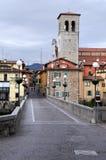 Devil's Bridge in Cividale del Friuli. Devil's bridge over the Natisone river in Cividale del Friuli in Italy Royalty Free Stock Photos