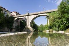 Devil`s bridge in Cividale del Friuli royalty free stock images