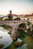 Devil's bridge of Cividale del Friuli Stock Images