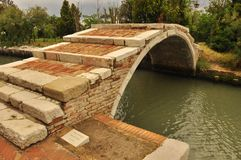 Devil's bridge. On the island of Torcello, Venice, Italy Royalty Free Stock Photo