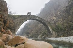 Devil's bridge, Lanzo, Piedmont - Italy Royalty Free Stock Image