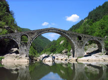 Devil`s Bridge near Ardino, Bulgaria Stock Photos