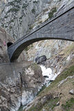 Devil's bridge at St. Gotthard pass Stock Photography