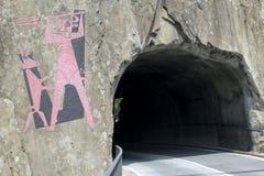 Devil's bridge at St. Gotthard pass stock photos