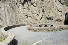 Devil's bridge at St. Gotthard pass royalty free stock images