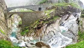 The devil's bridge, Switzerland Royalty Free Stock Image