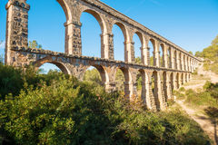 Devil's bridge in Tarragona, Spain Royalty Free Stock Images