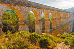 Devil's bridge in Tarragona, Spain Royalty Free Stock Photos