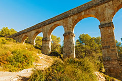 Devil's bridge in Tarragona, Spain Royalty Free Stock Photography