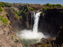 Devil's Cataract (part of Victoria Falls). Devil's Cataract in dry season (part of Victoria Falls) - view from Zimbabwe Royalty Free Stock Images