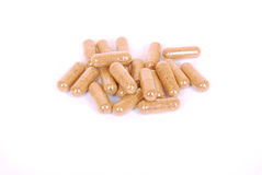 Devil's claw capsules Royalty Free Stock Photos