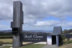 Devil`s Corner Lookout in Tasmania Australia royalty free stock photography