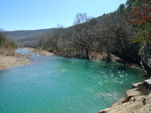 Devil`s Den State Park, Arkansas Blue Water And Mountains Stock Photo