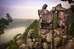 Devil's doorway. At Devil's Lake State Park  WI Royalty Free Stock Photography