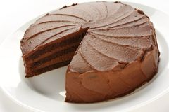 Devil's food cake Royalty Free Stock Photos