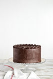 Devil's food chocolate cake Royalty Free Stock Photography