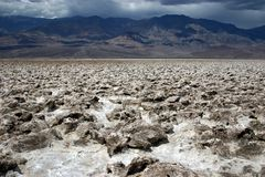 Devil's Golf Course. Death Valley National Park Stock Photography