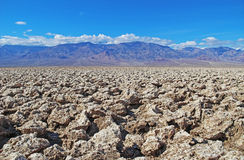 Devil's Golf Course in the Badwater Basin. USA. Devil's Golf Course in the Badwater Basin.  The Devil's Golf Course is a large salt pan on the floor of Death Stock Photos