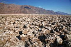 Devil's Golf Course - Death Valley Stock Image