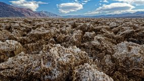Devil's Golf Course in Death Valley stock images