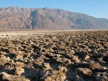 Devil's Golf Course Death Valley. California Stock Photos