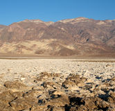 Devil's Golf Course in Death Valley Stock Photography