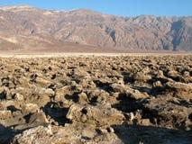 Devil's Golf Course Death Valley. National Park California Stock Photos