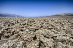 Devil's golf course, death valley Royalty Free Stock Photo