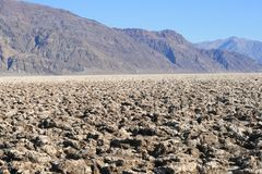 Devil's Golf Course, Death Valley, California Stock Photography