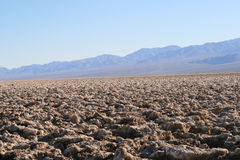 Devil's Golf Course, Death Valley, California Royalty Free Stock Image