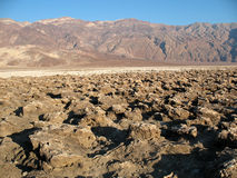 Devil's Golf Course Death Valley California Royalty Free Stock Image