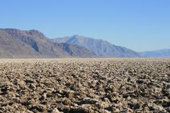 Devil's Golf Course, Death Valley, California Stock Images
