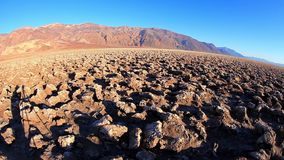 Devil's Golf Course, Death Valley, California, USA. Devil's Golf Course, Death Valley. The Devil's Golf Course is a large salt pan on the floor of Death Valley stock video