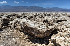 Devil's Golf Course, Death Valley Stock Photography