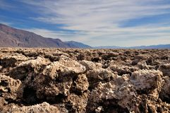 Devil's Golf Course in Death Valley. National Park Royalty Free Stock Photo
