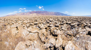 Devil's Golf Course. Vast salt desert of Devil's Golf Course in Death Valley National Park. California, USA Royalty Free Stock Images