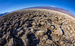 Devil`s Golfcourse. Death Valley National Park, California royalty free stock photography