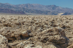 Devils Golfcourse in Death Valley,California, USA. The rugged terrain of the Devils Golf Course in Death Valley National Park, California, USA stock photo