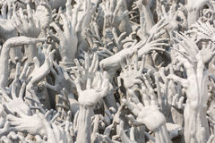 Devil's Hands from Hell, one of many beautiful decorations in Ro Royalty Free Stock Photo