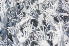 Devil's Hands from Hell, one of many beautiful decorations in Ro Royalty Free Stock Image